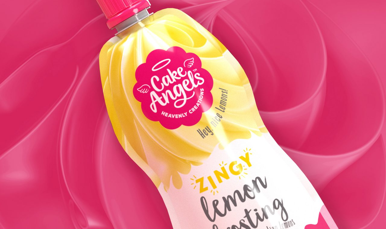 Cake Angels lemon frosting pouch