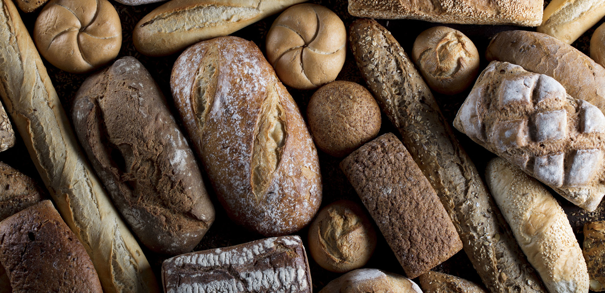 Selection of artisan bread