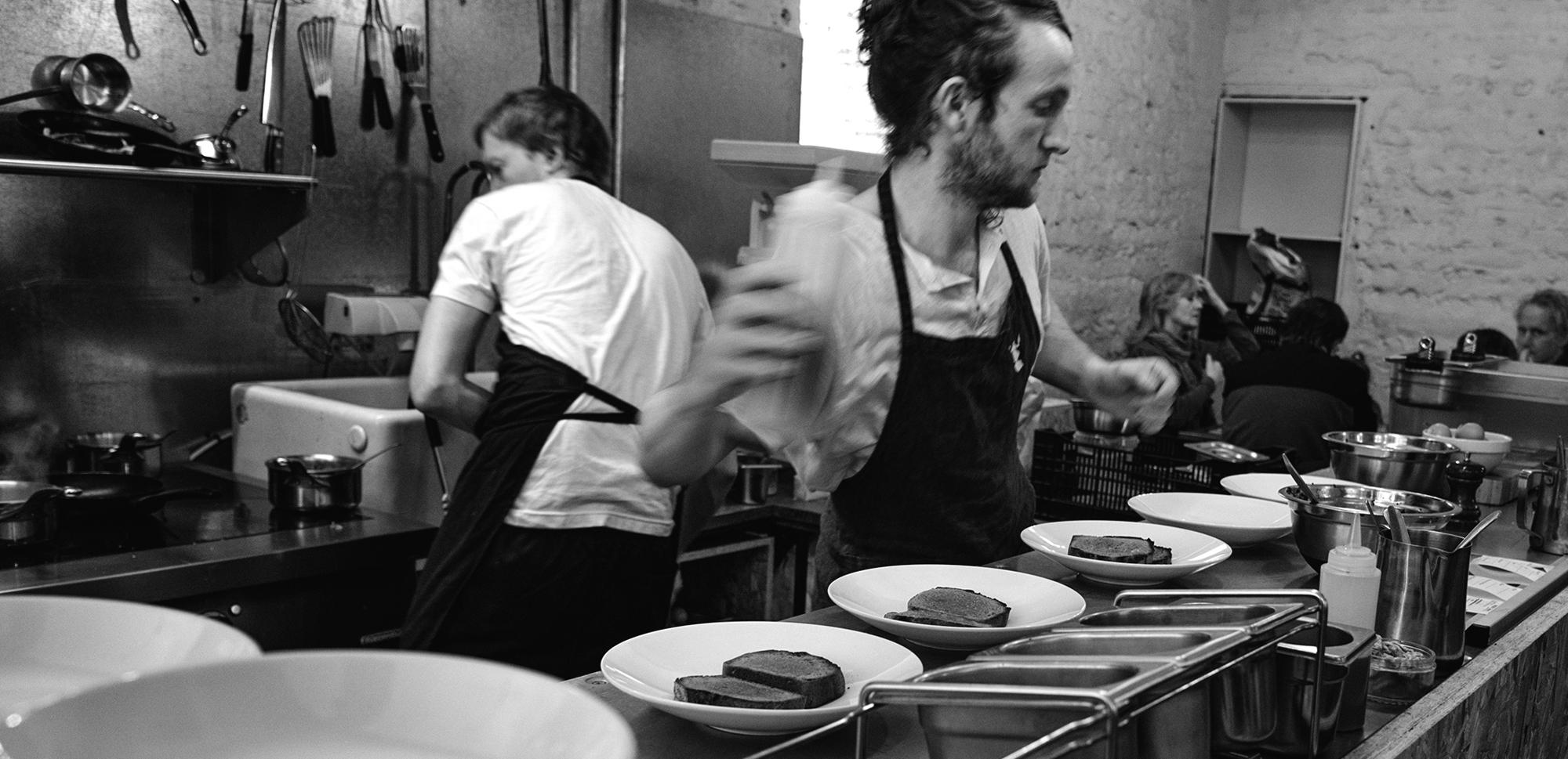 Taste Changers chefs cooking in Silo restaurant