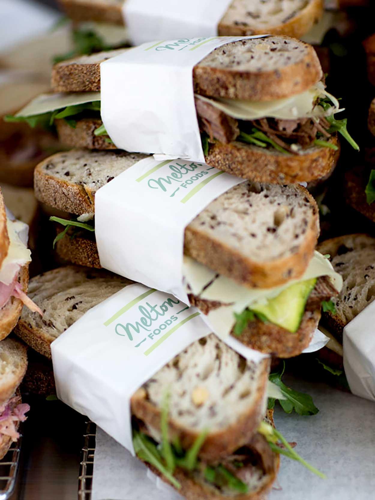 Melton Foods branding